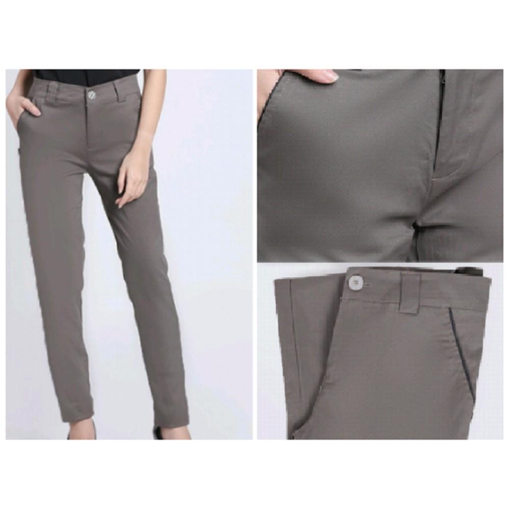 Ulasan Lengkap Cipitih Shop Chino Wanita Celana Kerja Wanita Masa Kini Bahan Katun Twil Cotton Nyaman Lembut Kualitas Good