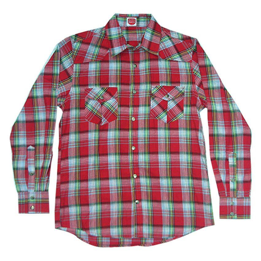 Promo City B Ch Classic Long Sleeves Shirt Stripped Square Merah Bali