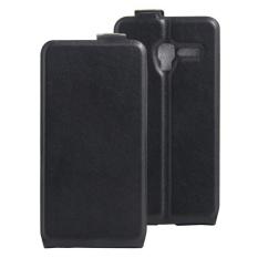 Clamshell Leather Case Dibangun Di Slot Kartu untuk Alcatel POP 3/POP 5/Pixi 3 Hitam-Intl