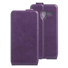Clamshell Leather Case Dibangun Di Slot Kartu untuk Alcatel POP 3/POP 5/Pixi 3 Ungu-Intl
