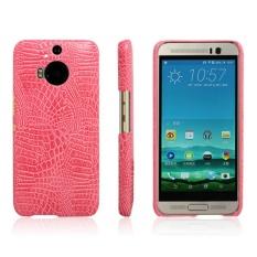 Sederhana Buaya Garis Perlindungan Penutup Belakang untuk HTC Desire Eye (pink)