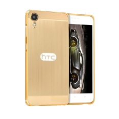 Taoyi Classic TY Metal Bumper Wire Drawing Back Cover Case For H TC Desire 10 Lifestyle (Gold) - intl