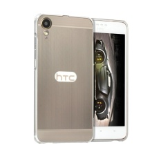 Taoyi Classic TY Metal Bumper Wire Drawing Back Cover Case For H TC Desire 10 Lifestyle (Silver) - intl