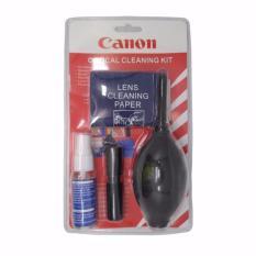 Cleaning Set For Camera Canon Red / Black 1 Set Pembersih Kamera Blower , Brush , Fuid , Cloth , Wipes , Cotton Merah Hitam