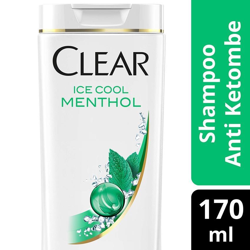 Clear Shampoo Anti Ketombe Ice Cool Menthol 170Ml-Twinpack