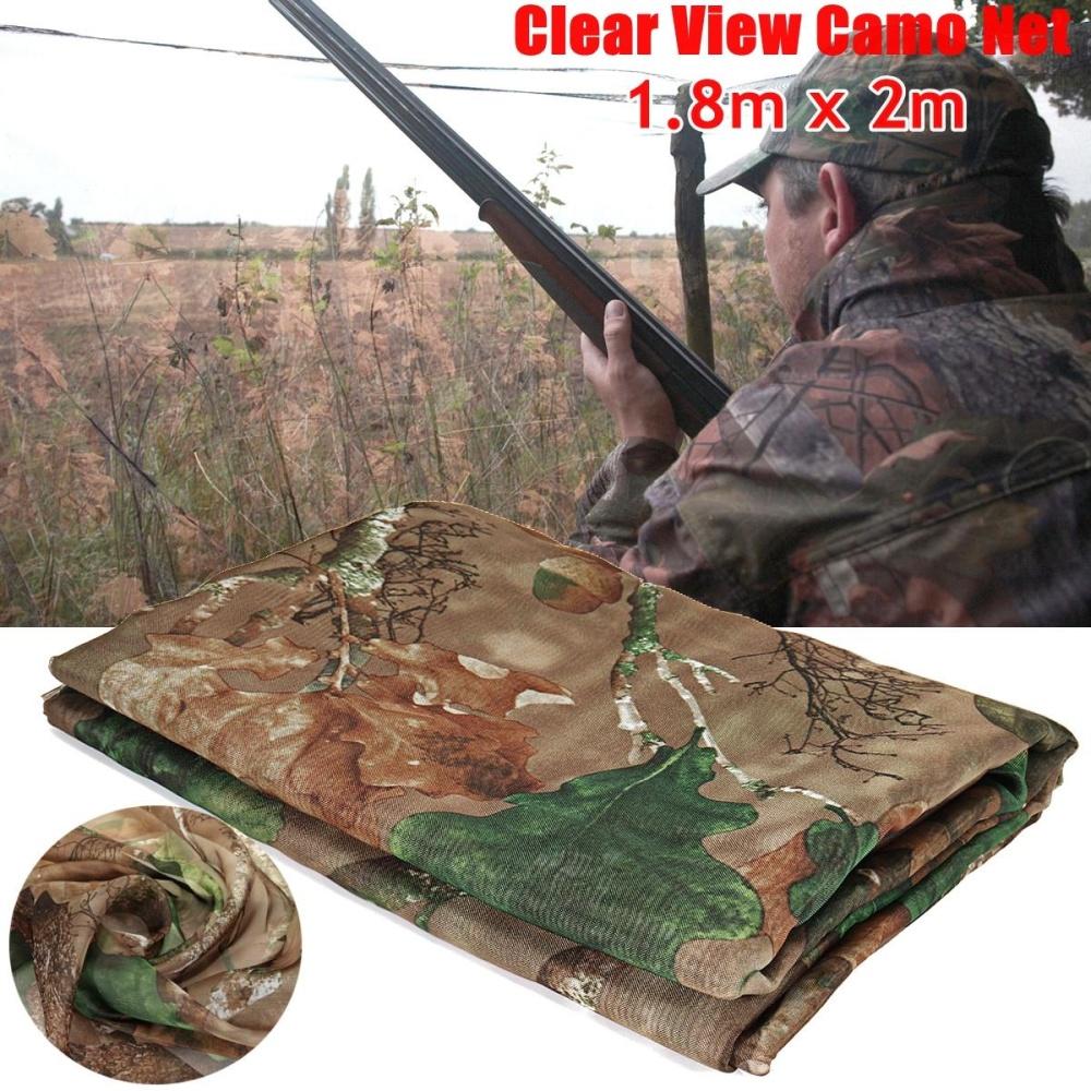 Jelas Camo Army Net Menyembunyikan Kelambu Pigeon Cover Berburu Shooting Hutan Baru (1.8 M * 2 M) -Intl