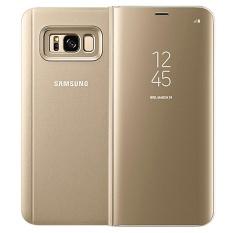 Bening Tampilan Standing Lipat Case Pintar Sarung untuk Samsung Galaksi S8 Plus Hitam-Internasional