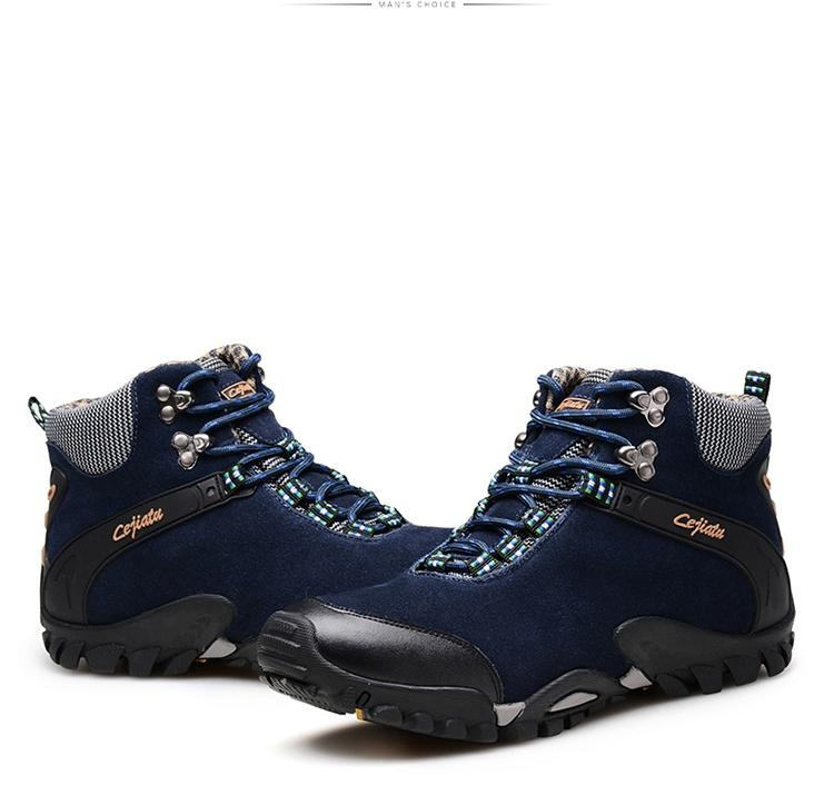 Spek Climbing Shoes Musim Gugur Dan Musim Dingin Tinggi Sepatu Hangat Dan Nyaman Boots Salju Anti Skid Walking Shoes Outdoor Sepatu Kapas Sepatu Intl Tiongkok