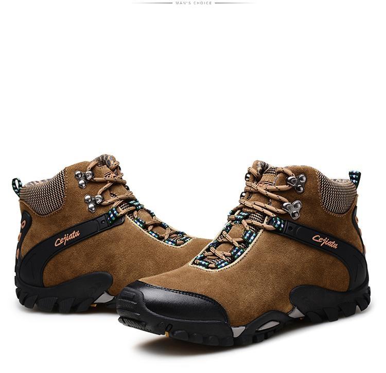 Review Climbing Shoes Musim Gugur Dan Musim Dingin Tinggi Sepatu Hangat Dan Nyaman Boots Salju Anti Skid Walking Shoes Outdoor Sepatu Kapas Sepatu Intl Oem Di Tiongkok