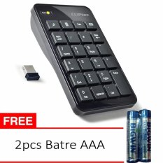 Cliptec AIR-RAPID 2.4GHz Wireless USB Numeric Keypad RZK222 - Hitam