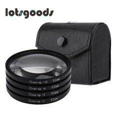 Close-Up + 1 + 2 + 4 + 10 Lensa Makro Kit Filter untuk DSLR Kamera (Hitam) -52 Mm-Intl
