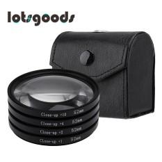 Close-Up + 1 + 2 + 4 + 10 Lensa Makro Kit Filter untuk DSLR Kamera (Hitam) -52 Mm-Intl