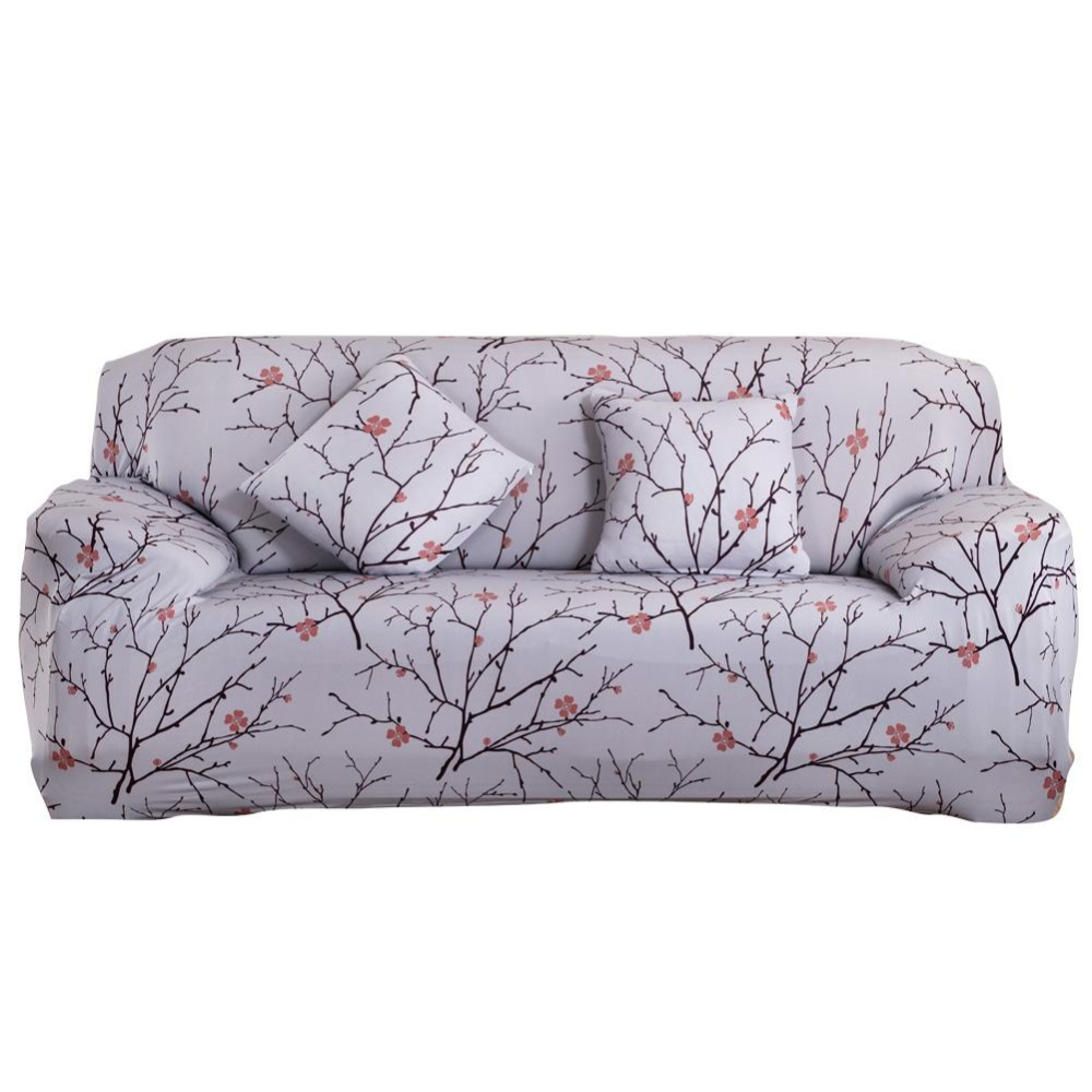 Promo Toko Cloth Art Spandex Stretch Slipcover Printed Sofa Furniture Cover 2 Seats Intl