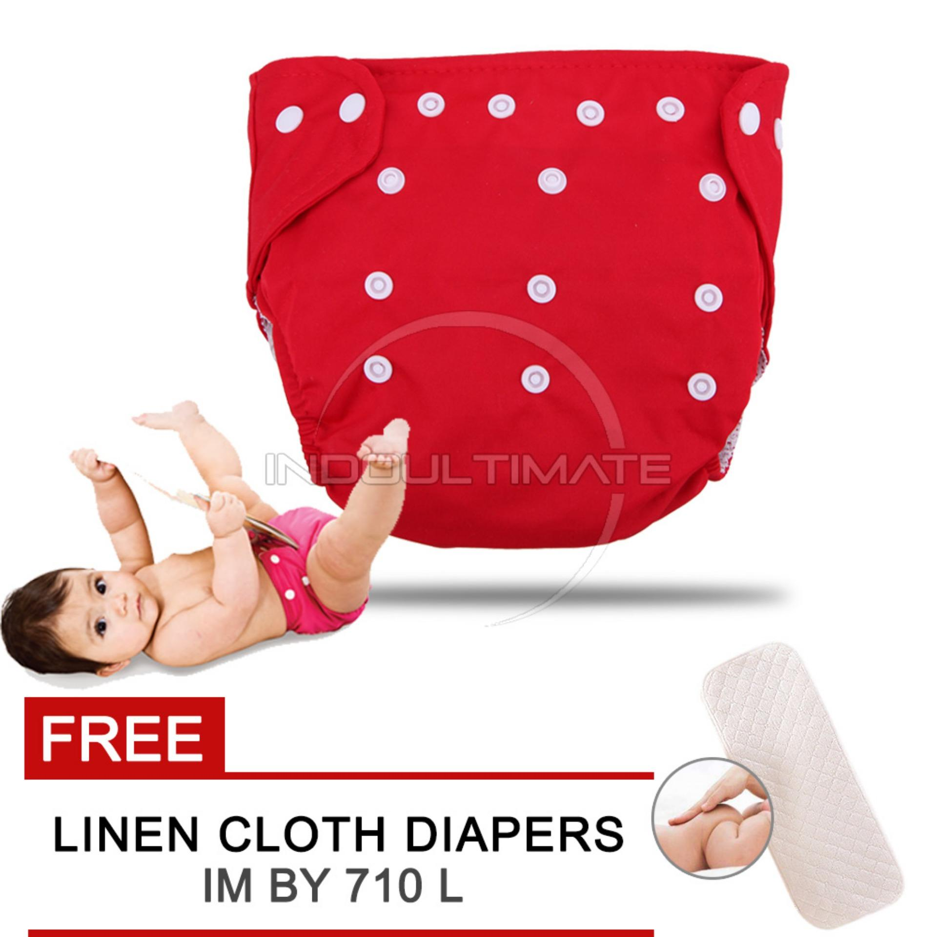 Cloth diaper / Cloth diapers / Clodi Popok Kain Bayi BY 72 / Pampers Kain RED + FREE INSERT