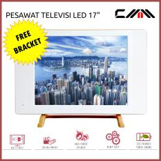 Televisi TV MONITOR LED 17 inch CMM - USB Movie Ready - Putih - Free Bracket