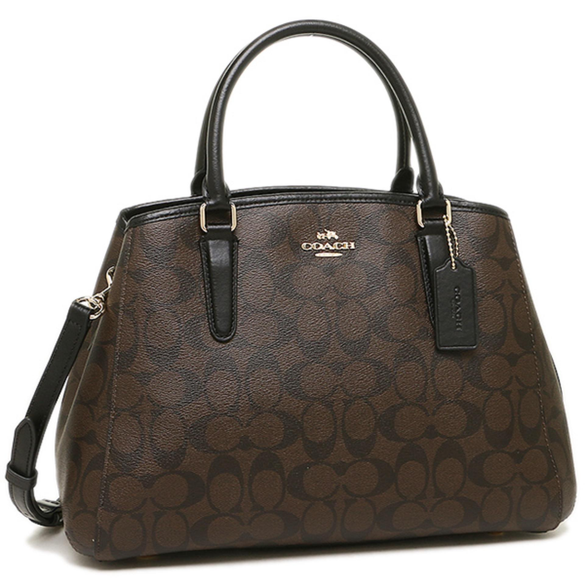 Coach Margot Signature Brown Black F58310 AUTHENTIC ORIGINAL USA Store