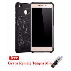 Cocose Original Case Dragon Xiaomi Redmi 3s / Pro - Hitam - Gratis Tongsis Mini Remote