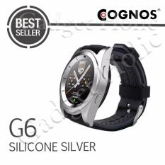 Jual Cognos Smartwatch G6 Heart Rate Silicone Silver Murah
