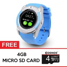Cognos Smartwatch - GSM V8 - FREE SD CARD 4GB - Biru