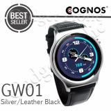Beli Cognos Smartwatch Gw01 Gsm Heart Rate Silver Leather Black Cicilan