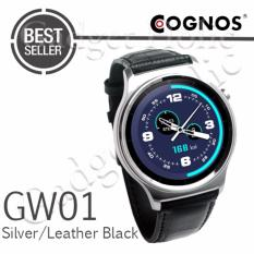 Harga Cognos Smartwatch Gw01 Gsm Heart Rate Silver Leather Black Seken