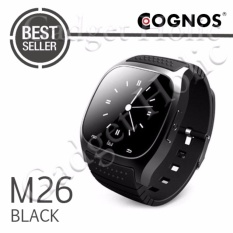 Harga Cognos Smartwatch M26 Bluetooth With Led Alitmeter Music Player Pedometer For Apple Ios Android Hitam Cognos Baru