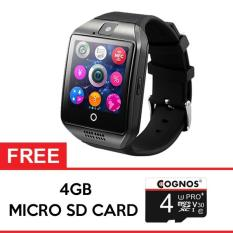 Cognos Smartwatch Q18 - GSM FREE SD CARD 4GB - Hitam
