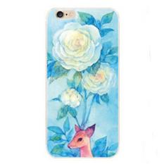 Warna Menggambar Emboss Case untuk IPhone 5 (Biru)