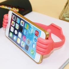 (Warna Acak) adjustable Malas Jempol Tempat Ponsel Tempat Tidur Ibu Jari Telepon Selular Tablet