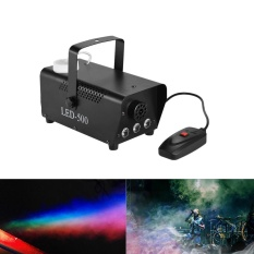 Colorful 400 Watt Fogger Fog Mesin Asap dengan Lampu Warna (Merah, Biru, Hijau) Wired Remote Control untuk Pesta Konser Live DJ Bar KTV Stage Effect-Intl