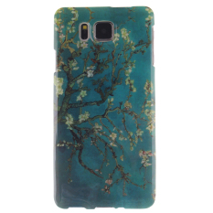 Colorful Apricot Blossom Tree Printed Gel Karet TPU Gel Silicone Soft Case Cover Pelindung Kulit untuk Samsung Galaxy Alpha G850 -Intl