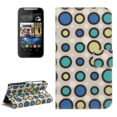 Colorful Dot Pattern Horizontal Flip Magnetic Buckle Leather Case With Holder and Card Slots and Wallet For HTC Desire 310 - intl