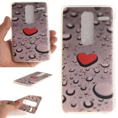 Colorful Heart DROP Printed Gel Karet TPU Gel Silicone Soft Case Cover Pelindung Kulit untuk LG Class LG Zero H740 F620 H650-Intl