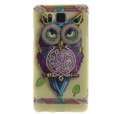 Colorful Owl Dicetak Gel Karet TPU Gel Silicone Soft Case Cover Pelindung Kulit untuk Samsung Galaxy Alpha G850-Intl