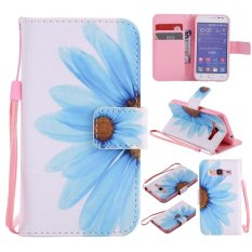 Colorful Pola Bunga Matahari Kartu Slot Dompet PU Leather Stand Flip Case Cover untuk SAMSUNG GALAXY CORE Prime G3608 G360 Case -Intl