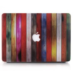Warna-warni Kayu Strip Shell Hard Case Laptop For MacBook Air 11,6 Inci A1370 A1465
