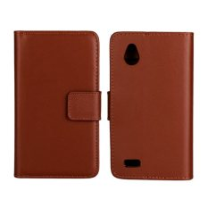 Colorful Leather Case untuk HTC Desire V T328W (Brown)-Intl.
