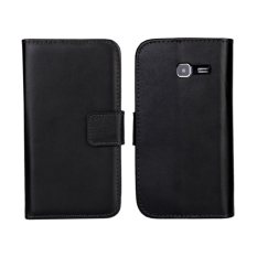 Colorfull Leather Case For Samsung Galaxy S7390 (Black) - intl.