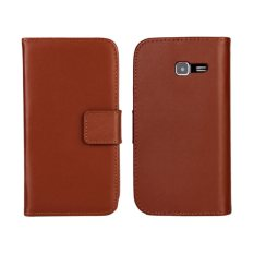 Colorful Leather Case untuk Samsung Galaxy S7390 (Brown)-Intl.