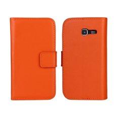 Colorful Leather Case untuk Samsung Galaxy S7390 (Orange)-Intl.