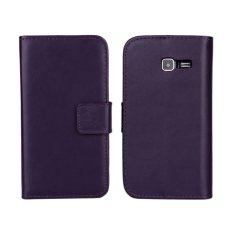 Colorful Leather Case untuk Samsung Galaxy S7390 (Ungu)-Intl.