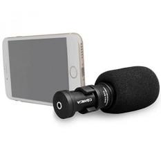 Comica Cvm-vs08 Video Microphone-profesional Mini Cardioid Kondensor Directional Shot Portable Ponsel MIC untuk Smartphone/iphone/ipad /Samsung/Huawei Dll dengan Angin Muff dan Windscreen-Intl