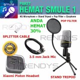 Situs Review Condenser Hq Studio Microphone Paket Hemat 1 Smule Mic Pop Filter Tripod Earphone Splitter