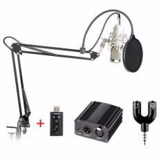 Condenser Microphone BM800+Scissor Arm Stand+Phantom Power+SC+Filter