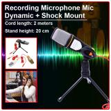 Beli Condenser Sound Studio Recording Microphone Mic Dynamic With Shock Mount