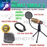 Beli Condenser Studio Microphone Sf666 Paket Hemat Smule 2 Mic Pop Filter Tripod Earphone Splitter Pakai Kartu Kredit