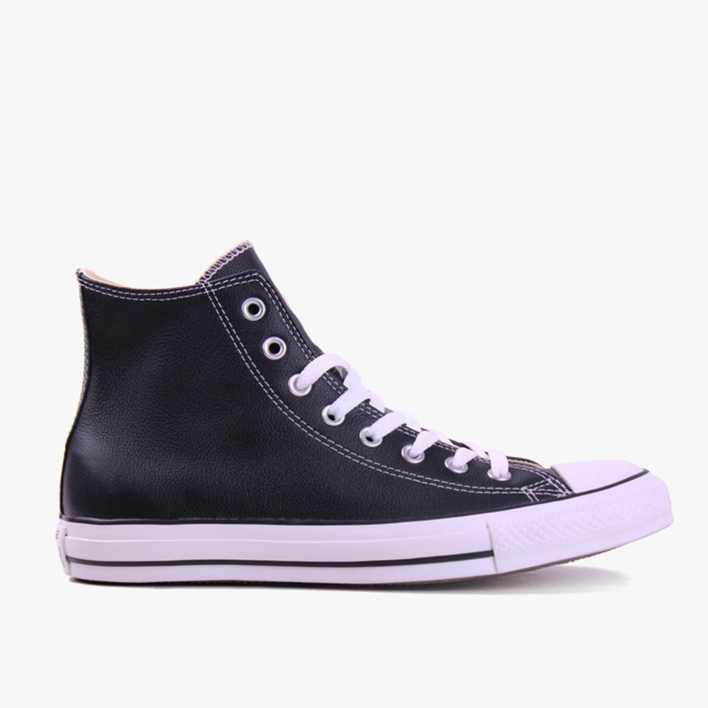 Converse All Star Hi Leather Unisex Sneakers Hitam Jawa Barat