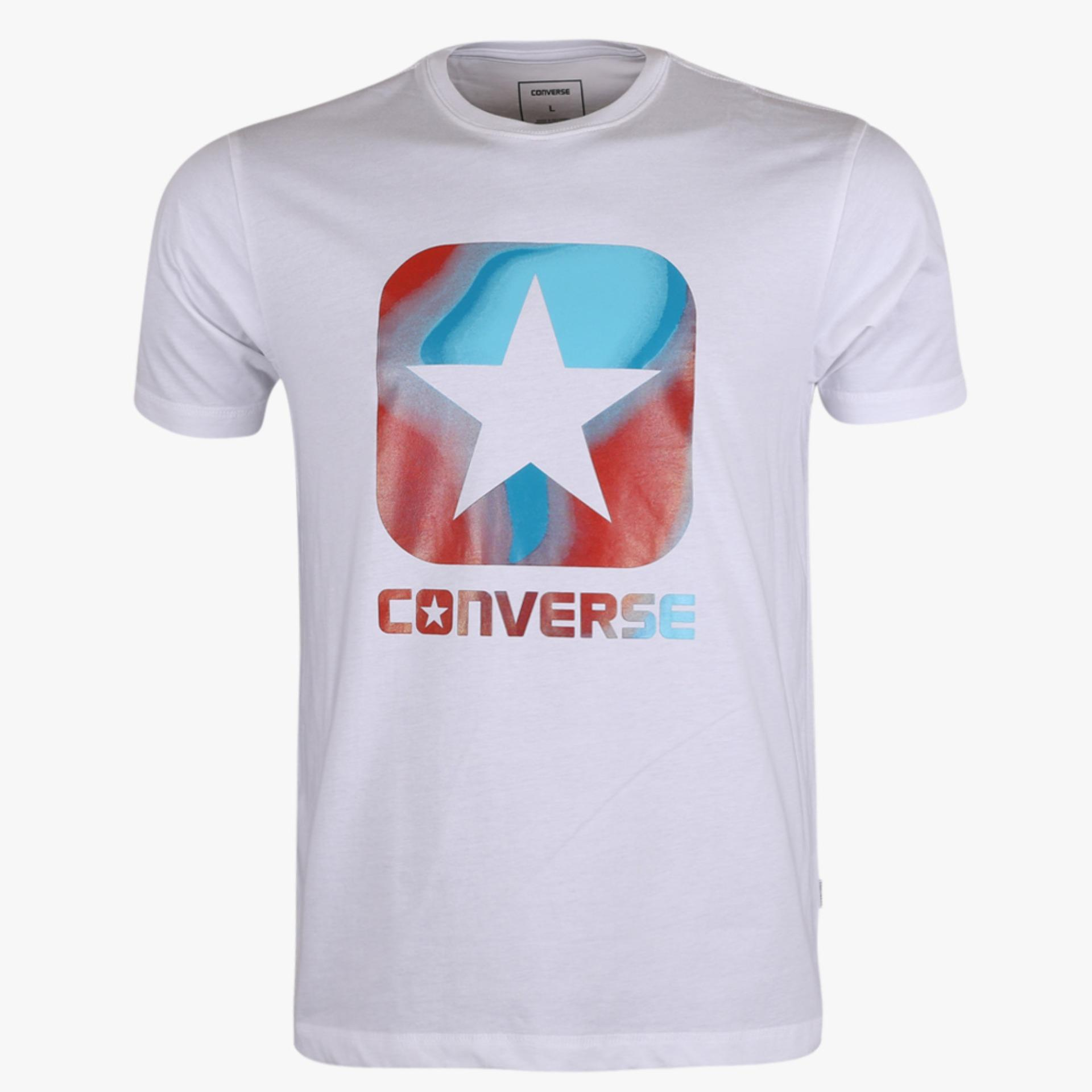 Toko Converse Box Star Filled Graphic Men S Tee Putih Terdekat
