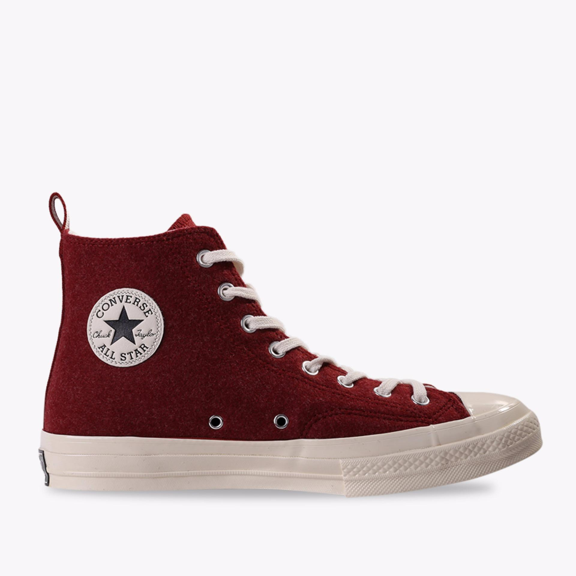 Converse Chuck 70 Felt Hi Men's Sneakers Shoes - Merah