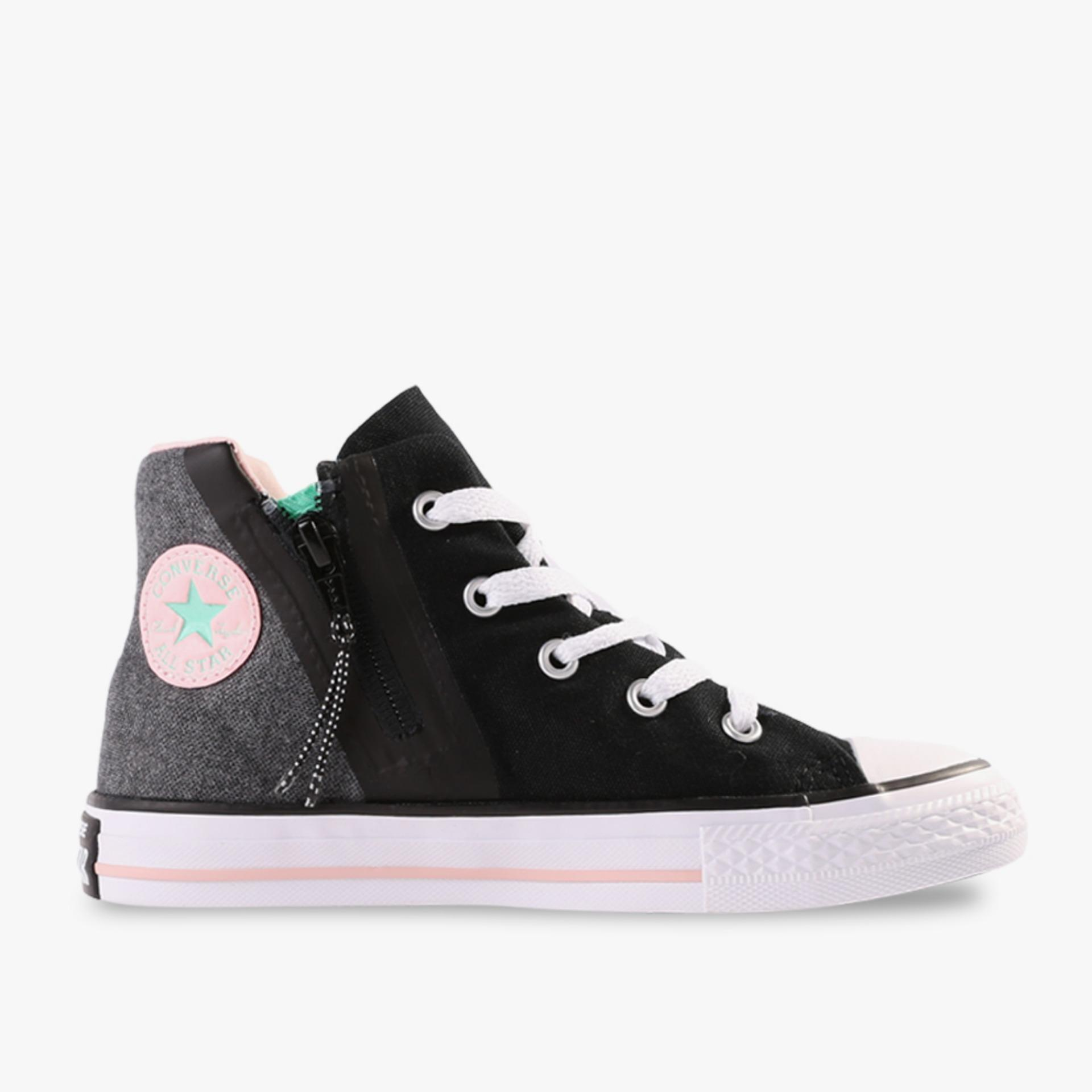 Situs Review Converse Chuck Taylor All Star Sport Zip Hi Kids Sneakers Hitam